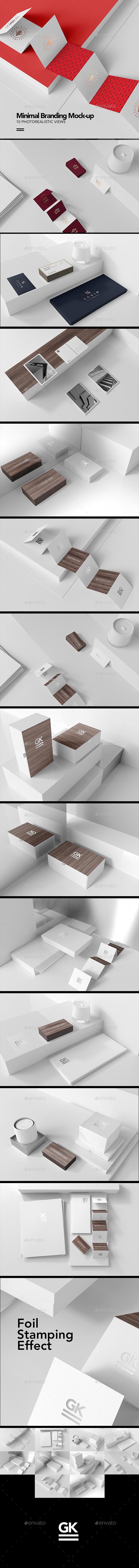 Minimal Branding / Stationary Mock-up - Stationery Print