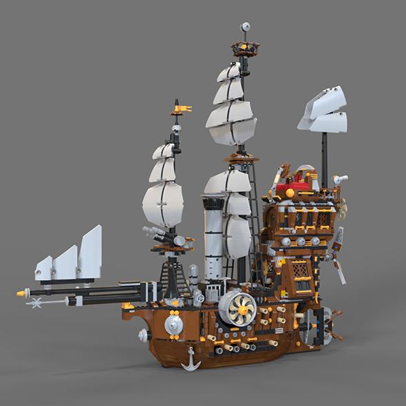 Lego Air Ship - 3DOcean Item for Sale
