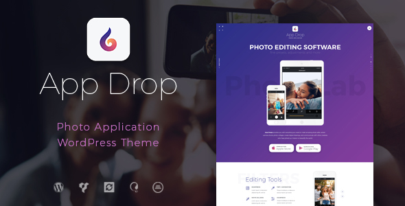 Image of App Drop | Landing Page for Photo Editing Application