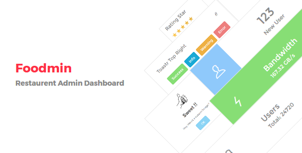 Foodmin – Restaurant Admin Dashboard