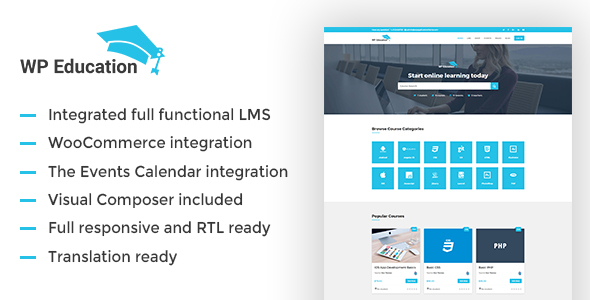 WP Education – The Ultimate WordPress LMS Theme for Educational Sites