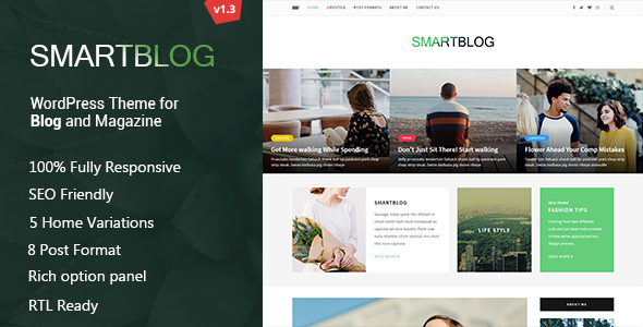 WordPress Blog Theme - Personal Blog / Magazine