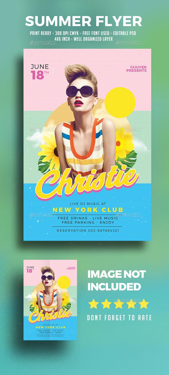 Summer DJ  Flyer - Clubs & Parties Events