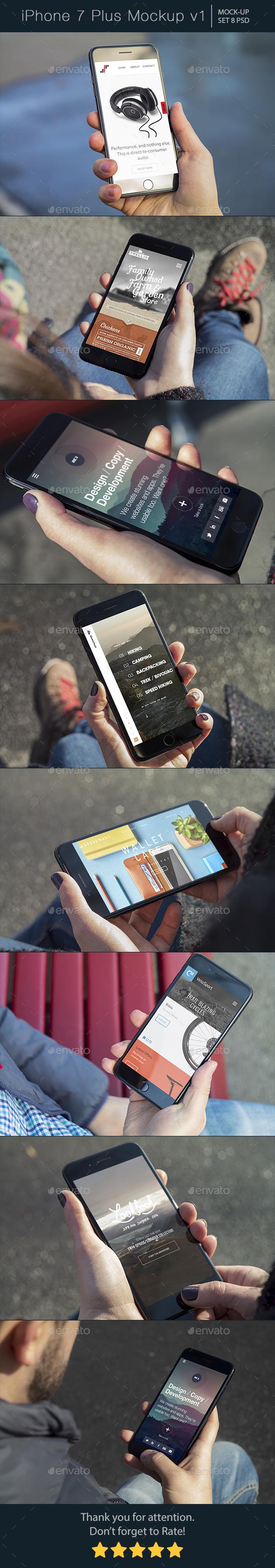 iPhone 7 Plus Mockup v1 - Mobile Displays