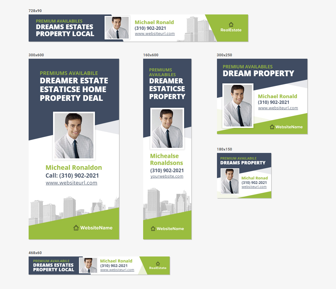 HTML5 Ads - Sleek Real Estate Banner Templates by InfiniWeb ...