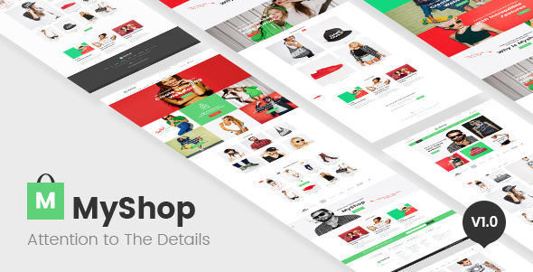 MyShop - multi layout fashion OpenCart theme