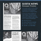 Quick Newspaper Template - 4 Pages Journal / Newsletter - GraphicRiver Item for Sale