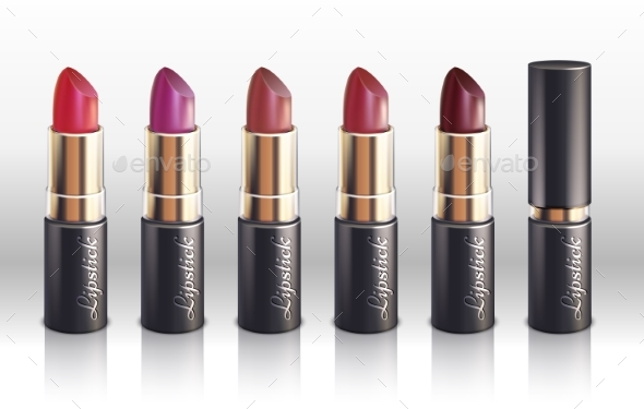 Glossy Color Lipstick for Woman Lips - Man-made Objects Objects