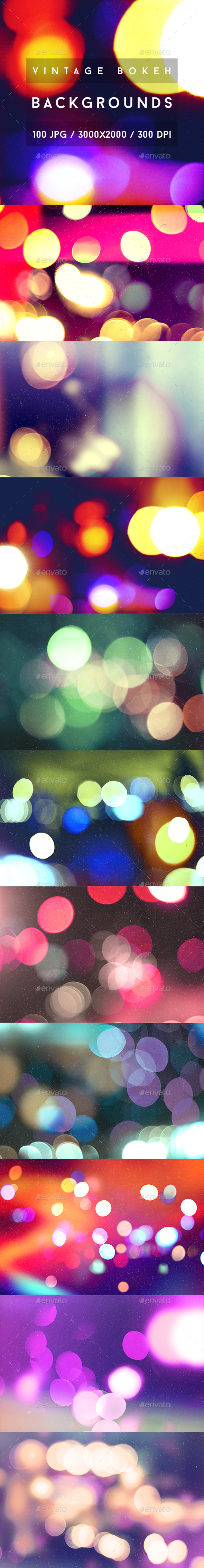 100 Vintage Bokeh Backgrounds - Abstract Backgrounds