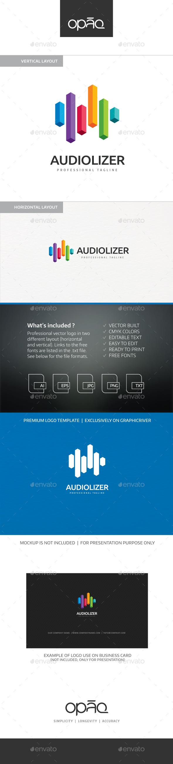 Audio Equalizer Logo - Objects Logo Templates