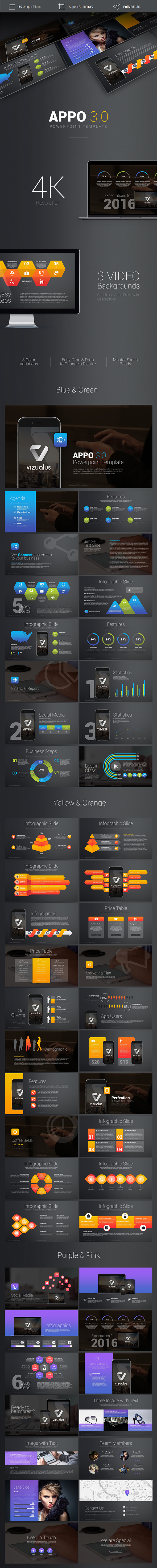 Premium App Powerpoint Template - PowerPoint Templates Presentation Templates