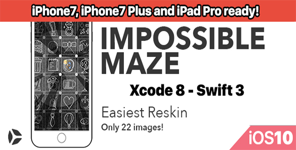 Impossible Maze – One Hour Reskin - iOS10 and Swift 3 ready - CodeCanyon Item for Sale