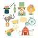 Circus Flat Icons - GraphicRiver Item for Sale