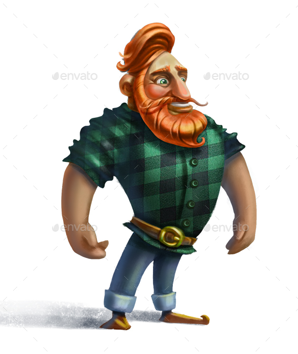 Man with Red Beard - Characters Illustrations