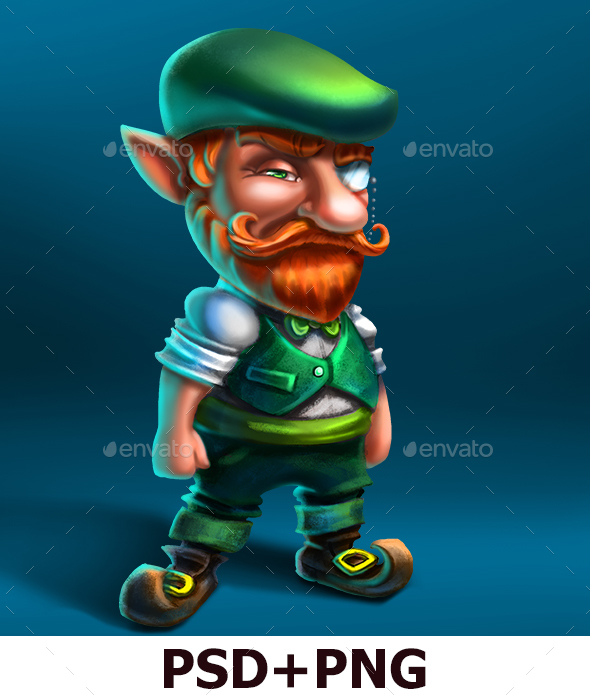 Leprechaun Hipster - Characters Illustrations