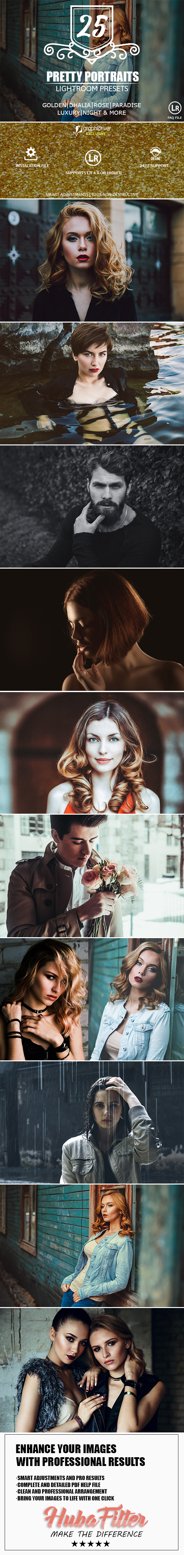 25 Pretty Portraits Lightroom Presets - Portrait Lightroom Presets