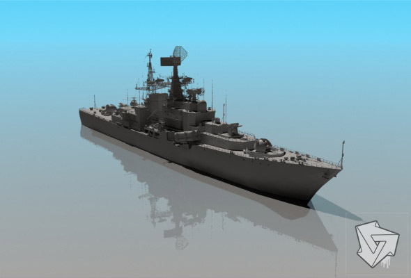 Missile_cruiser_HiPoly_render_setup - 3DOcean Item for Sale