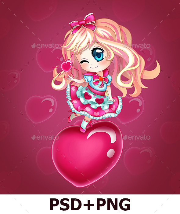 Blonde Chibi Girl - Characters Illustrations