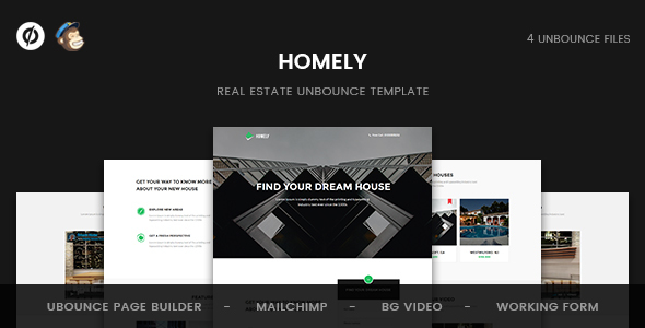 Homely – Real Estate Unbounce Template