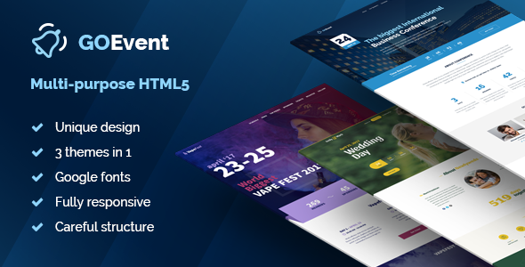 Event – Responsive Multi-Purpose Conference & Event HTML5 Landing Pages