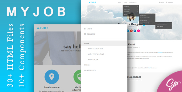 Myjob – Job Postings HTML Template