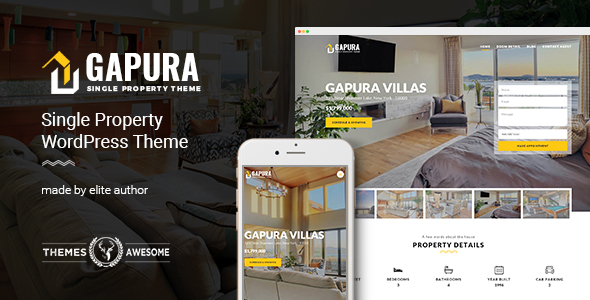 Single Property WordPress Theme - Gapura - Real Estate WordPress