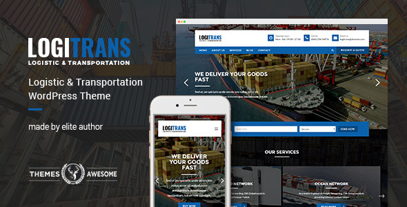 Logistic WordPress Theme - LogiTrans - Business Corporate