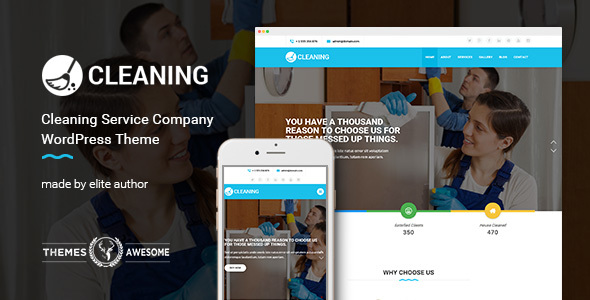 Cleaning Service Company WordPress Theme - Business Corporate