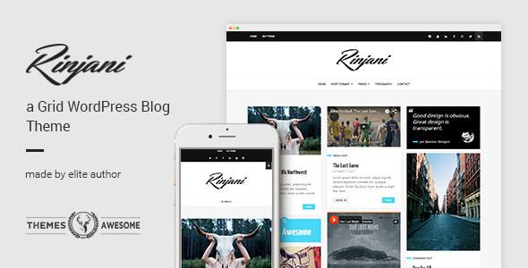 A Responsive Grid Blog Theme - Rinjani - Personal Blog / Magazine