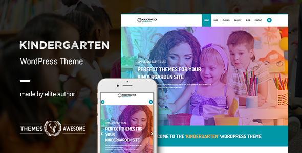 15+ Kindergarten and Elementary School WordPress Themes 2019 13