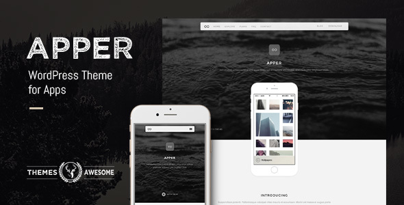 Apper - WordPress Theme for Apps - Software Technology