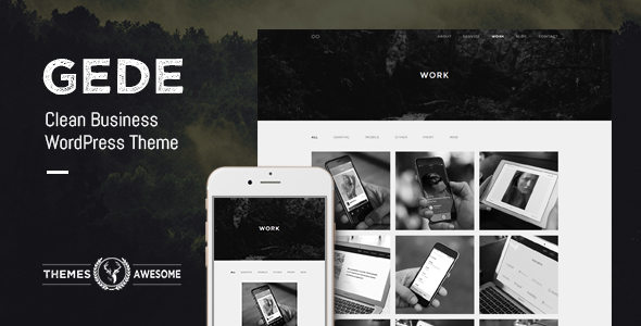 Gede - Clean Business WordPress Theme - Business Corporate
