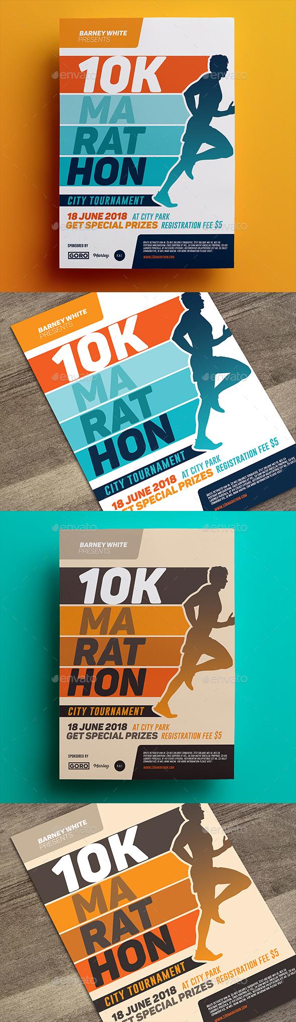 Marathon Flyer 03 - Sports Events