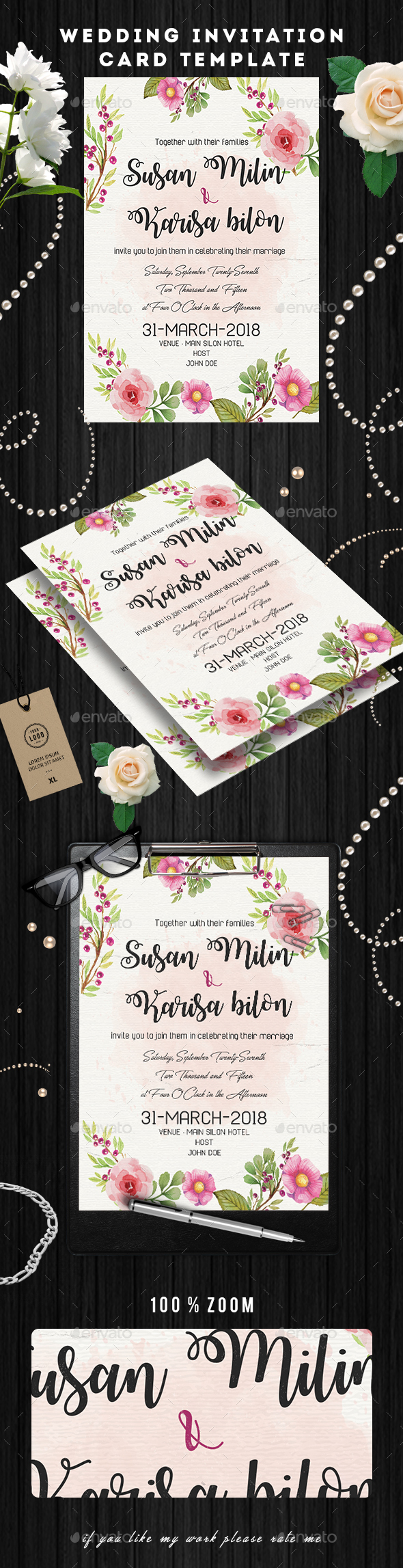 Wedding Invitation Card Flyer - Commerce Flyers