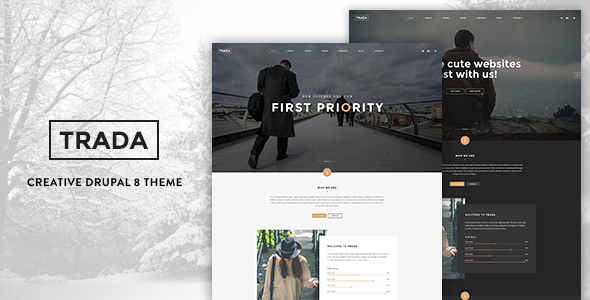 Trada - Creative Onepage Drupal 8 Template - Corporate Drupal