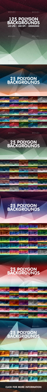 125 Polygon Backgrounds Bundle