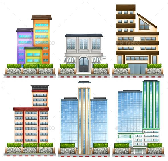 Different Designs of Buildings - Buildings Objects