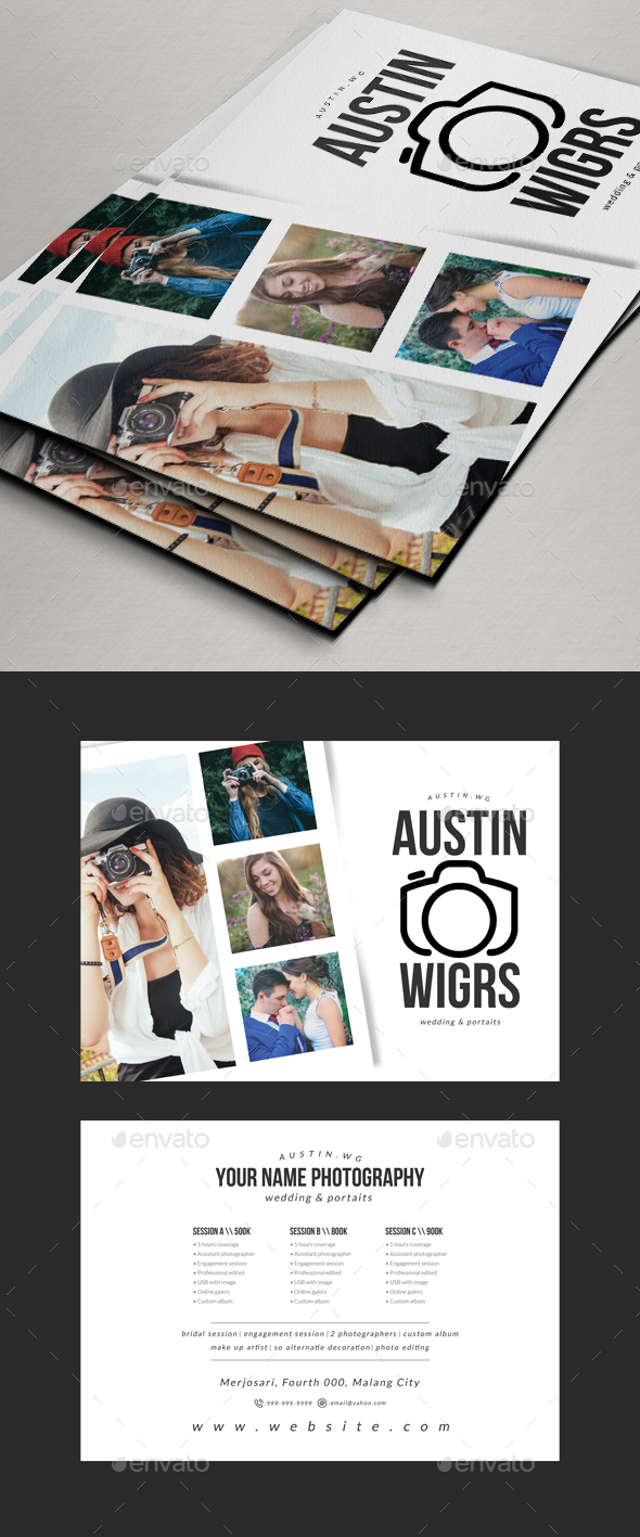 Photography Flyer / Pricing Sheet V2 - Corporate Flyers