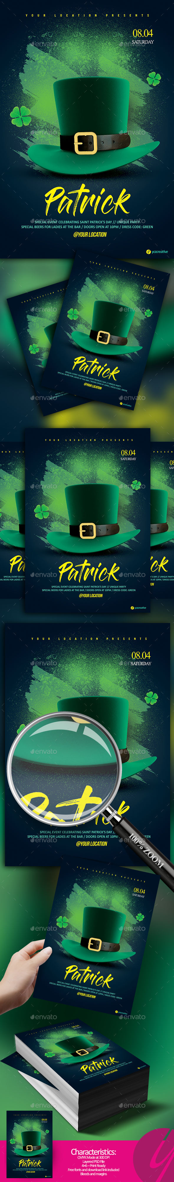 Saint'Patrick's Party Flyer - Holidays Events
