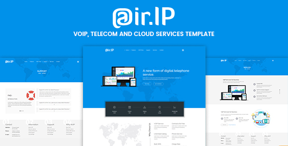 Airip –  VOIP, Telecom and Cloud Services Template