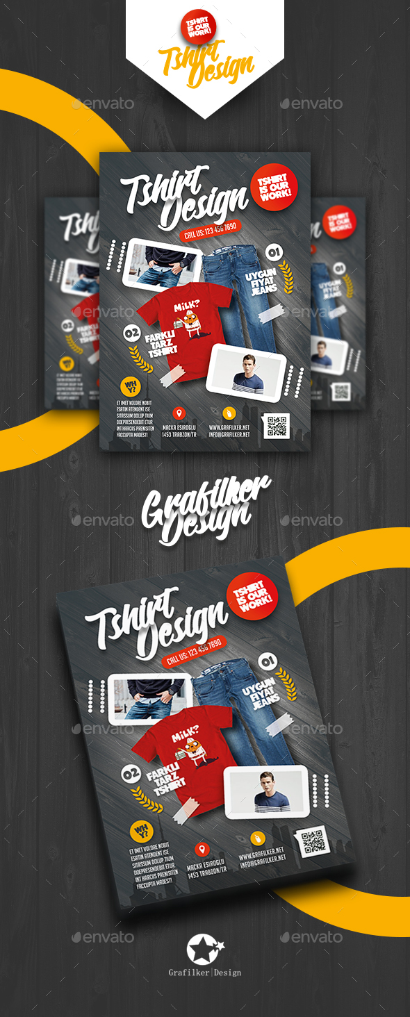 T-Shirt Shop Flyer Templates - Corporate Flyers