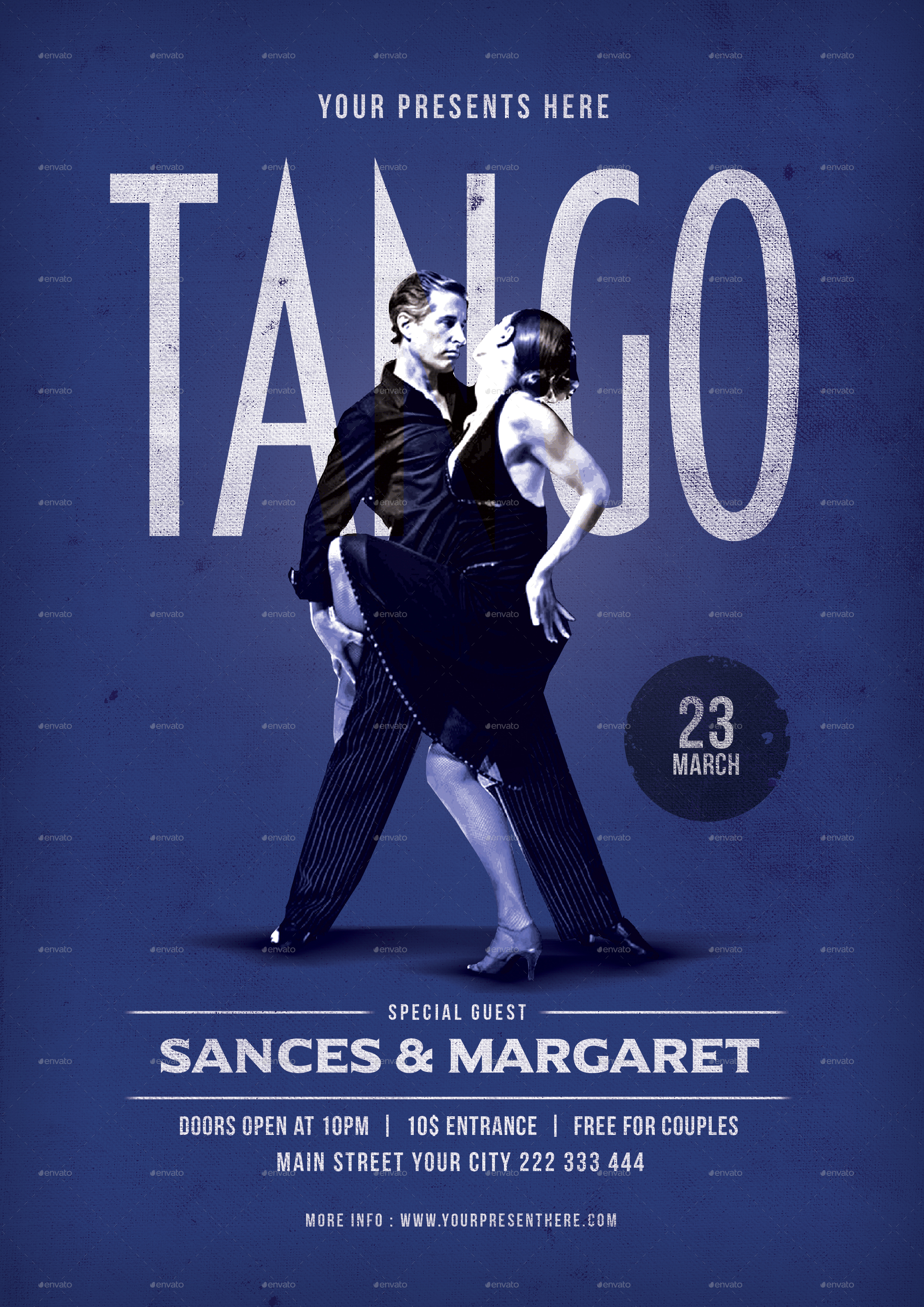 tango dance flyer by lilynthesweetpea graphicriver