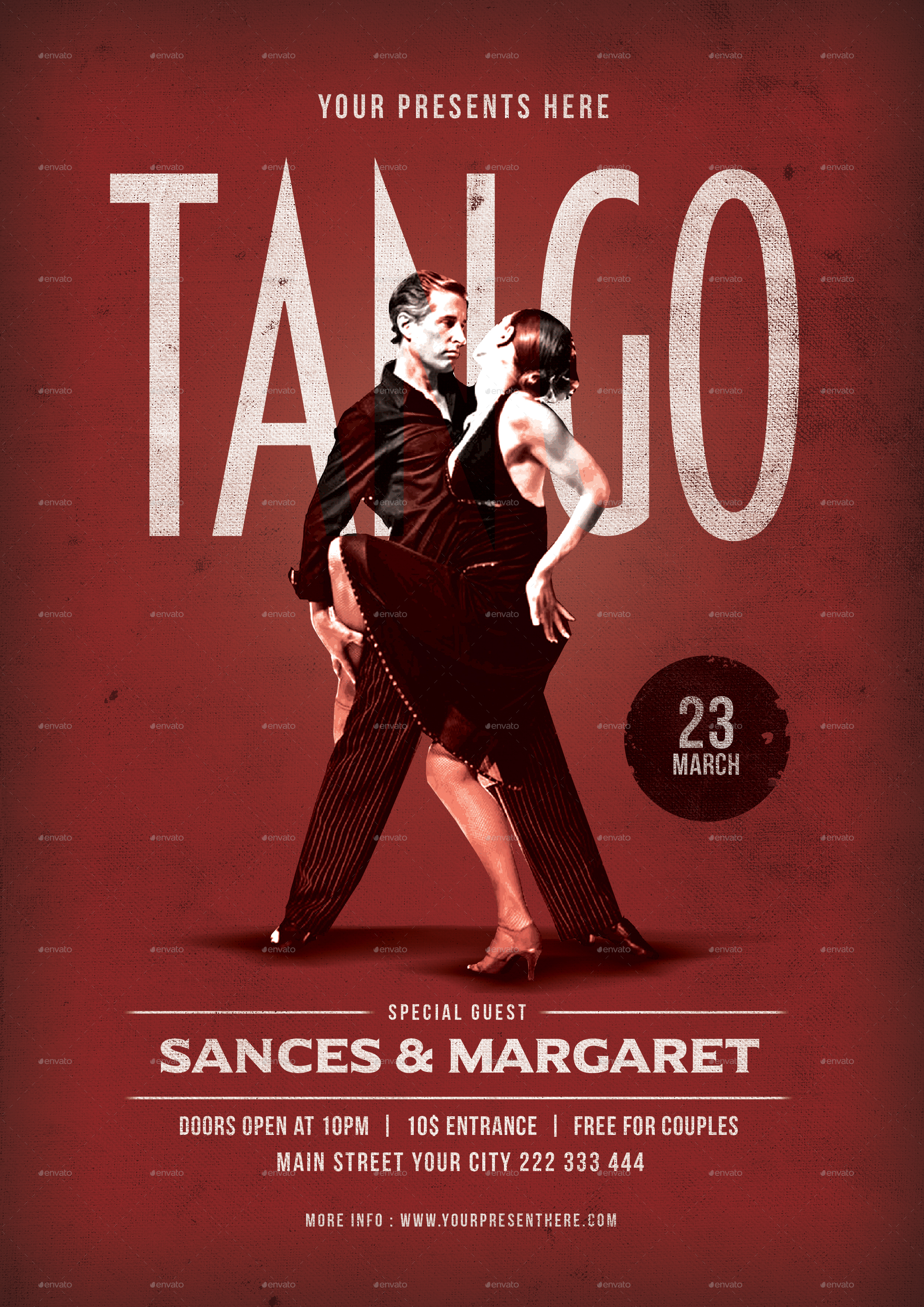 Tango Dance Flyer by lilynthesweetpea | GraphicRiver