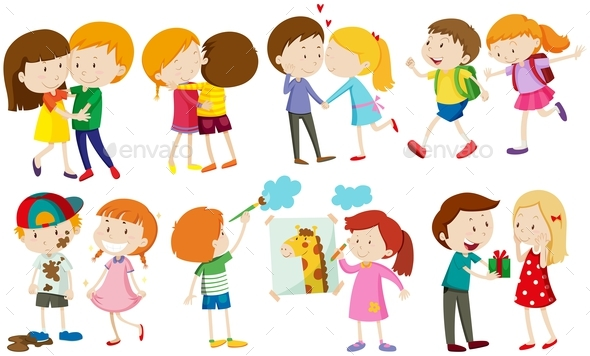 Children and People in Love - People Characters