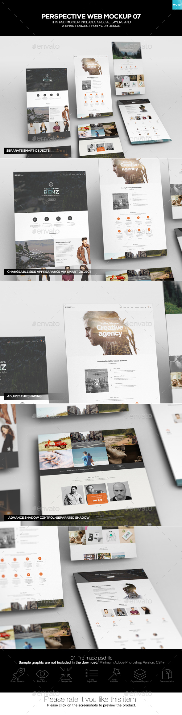 Perspective Web Mockup 07 - Website Displays