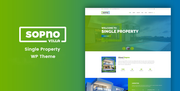 Sopnovilla – Single Property WordPress Theme - Real Estate WordPress