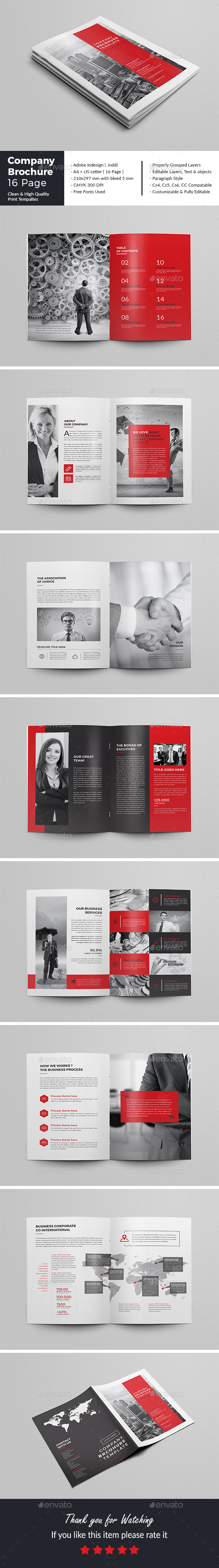 Company Brochure Template 16 Page - Corporate Brochures