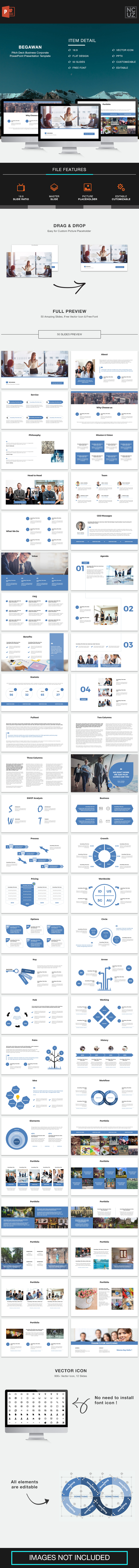 Begawan Pitch Deck PowerPoint Template - Pitch Deck PowerPoint Templates