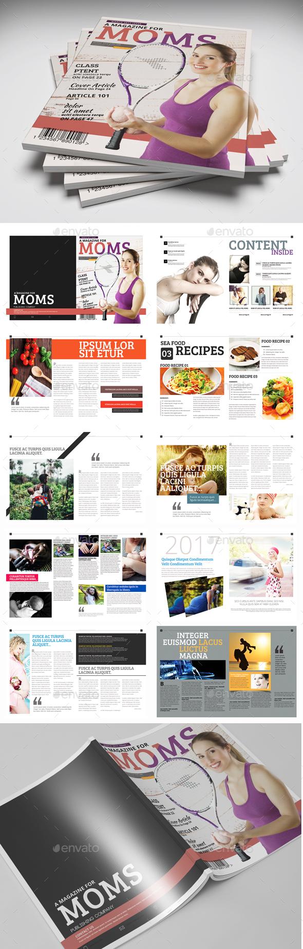 Magazine Template - PSD - Magazines Print Templates