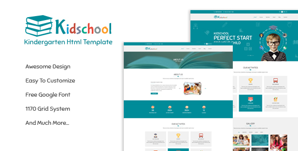 Kidschool - Kids & Kindergarten School HTML Template